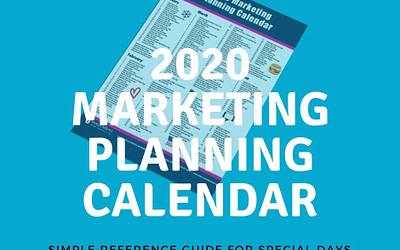 2020 Marketing Planning Calendar