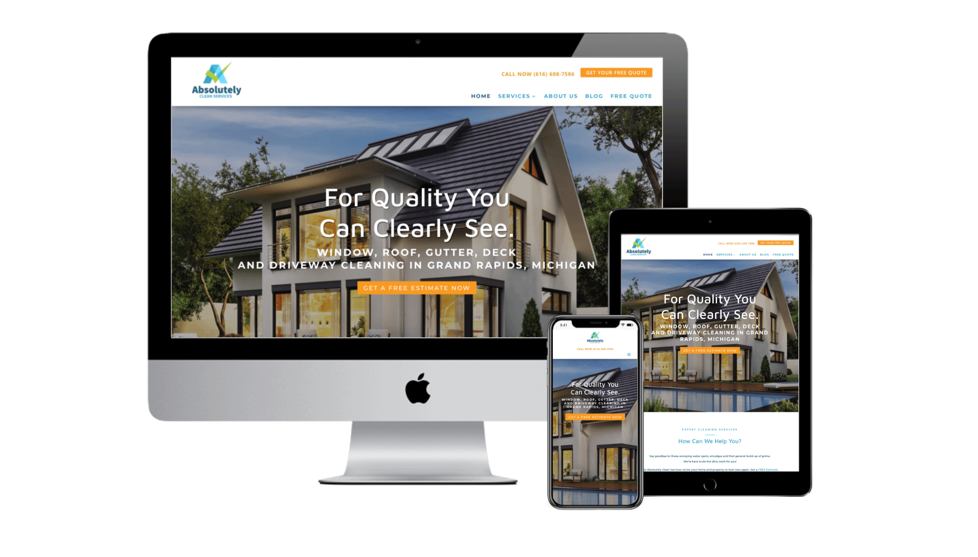 Absolutely Clean Services Website Redesign