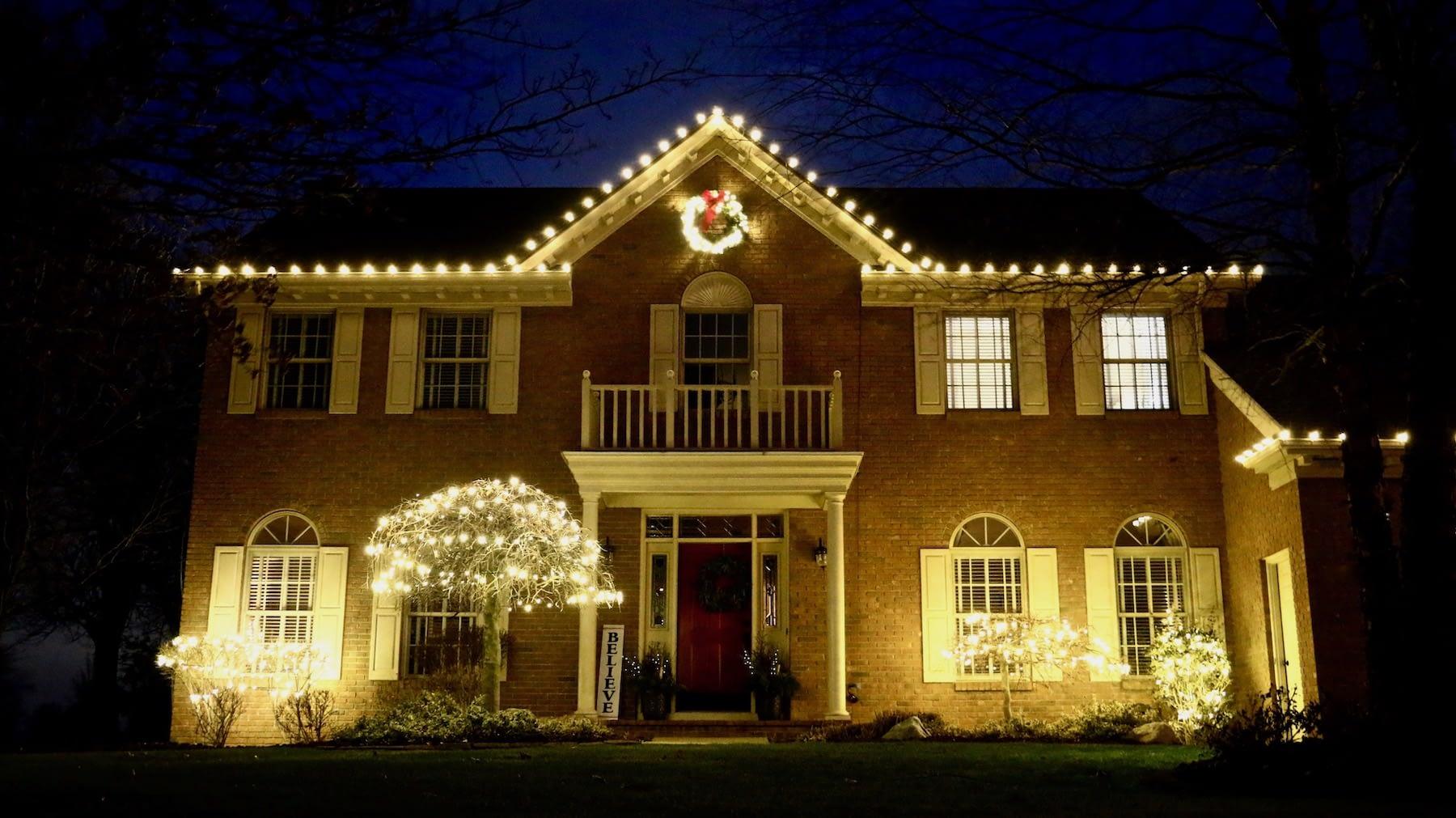 home holiday christmas lights